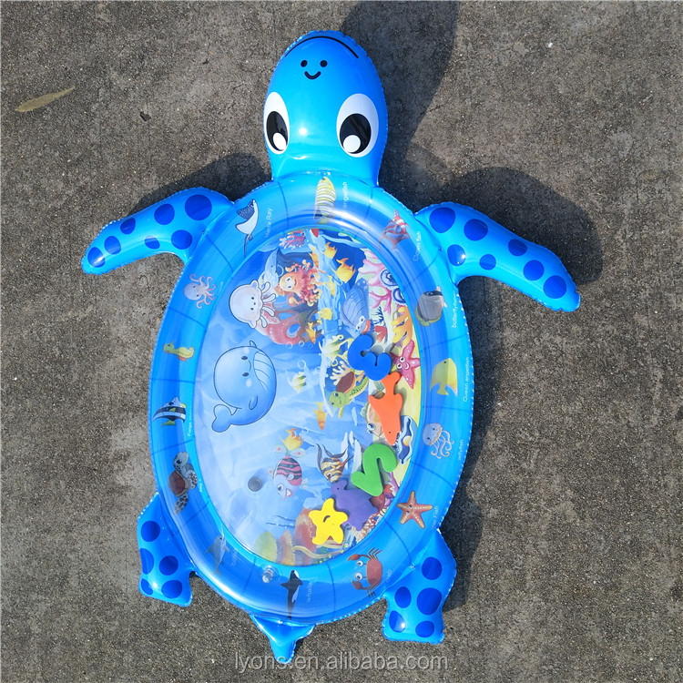 IN STOCK Inflatable Baby Water Mat Factory Wholesale New Design Baby Play Mat With Color Box Packing