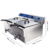 Professional Restaurant Counter Top 2 Tank 2 Basket Factory price commercial Electric Deep Fryer