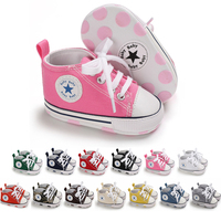 Free sample Casual canvas shoes soft sole 0-2 years kids infant prewalker toddler baby boy shoes