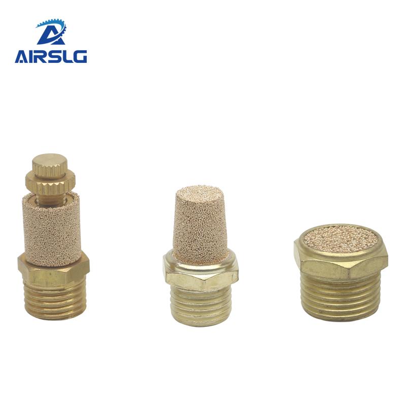 Điều hòa không khí Muffler khí nén BSL BSLM BESL phổ throttling mini Bộ phận giảm thanh Brass khí nén không khí thải muffler