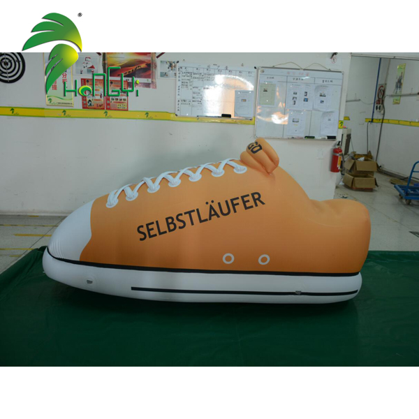 Outdoor display inflatable sport shoe model for advertising