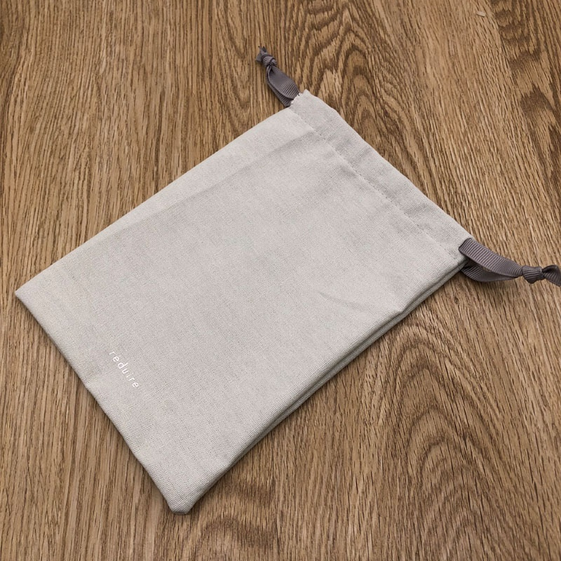 Light Grey Linen Pouch Bag For <strong>Cosmetic</strong>