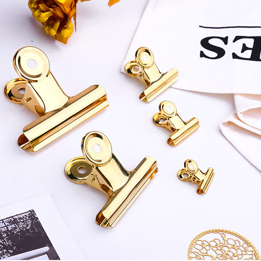 Wholesale custom stainless steel clamp color iron clamp office metal clip