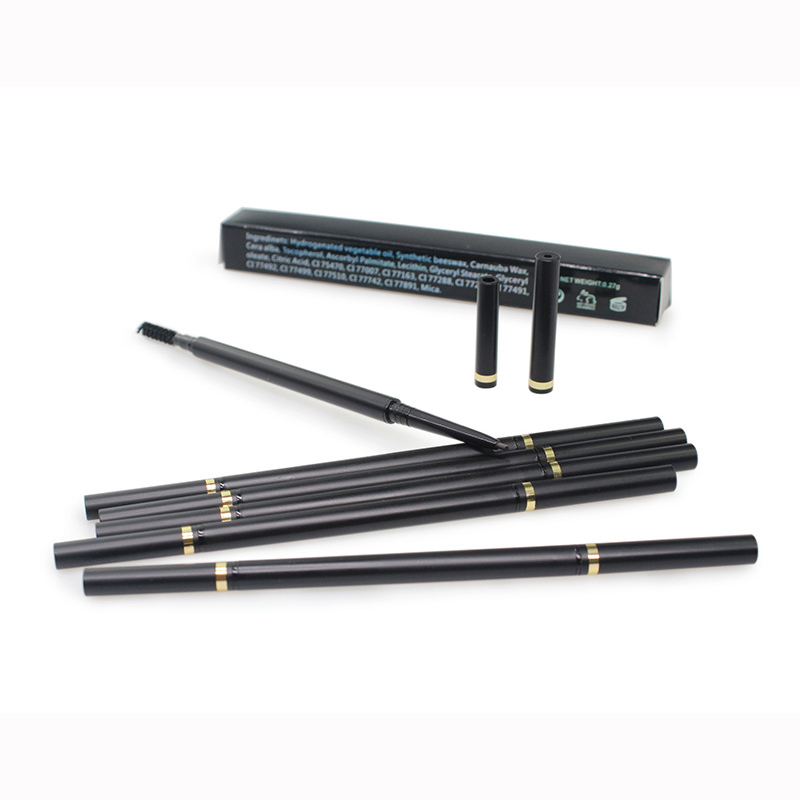 High Quality Eye Brow Makeup Automatic Eyebrow Pencil 2 in 1 No Logo Waterproof Eye Brow Pencil With Brush
