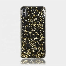 Lijm goud <span class=keywords><strong>folie</strong></span> 5.0mm Telefoon Case Voor Iphone X Iphone 8 Plus Gevallen, Voor Iphone7 Cover Case, voor Iphone Case
