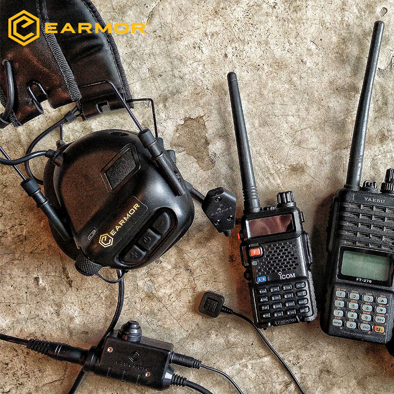 OPSMEN EARMOR Tactical Tactical PTT  Push To Talk Military handheld headset walkie talkie Nexus TP120 headset walkie talkie