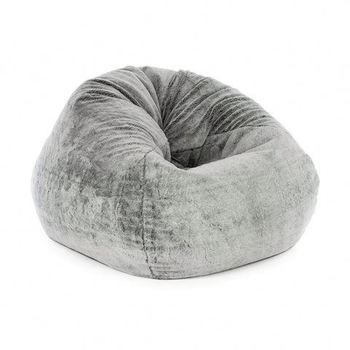 Huge Leather Fat Boy Memory Polystyrene Filling Furniture Sofa Puff Fur Suede Foam Bean Bag For Adults