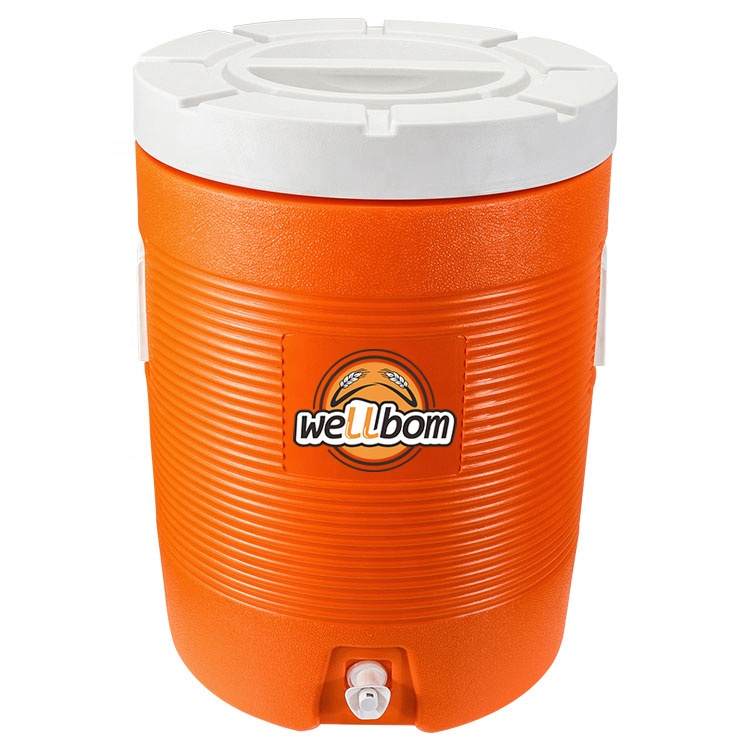 2019 New Design 39*54.5cm Plastic Orange Ice Water Cooler Box Jockey Box Beverage Cooler Brewery Equipment