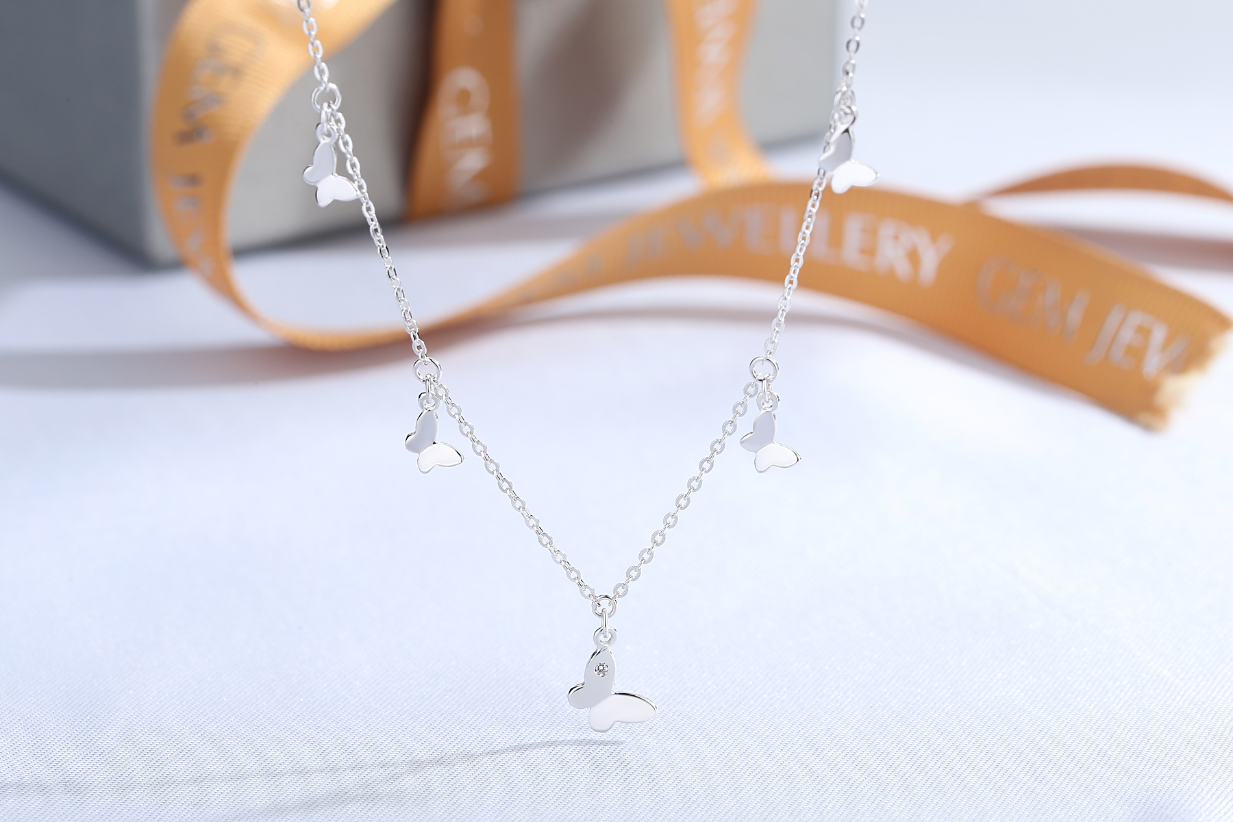 Wholesale Fashion womens jewelry silver/brass anklets butterfly chain anklet(图2)