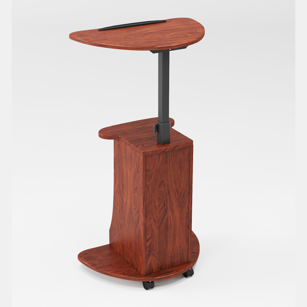 Commercial Furniture Mobile Adjustable Height Lectern Wooden Desk
