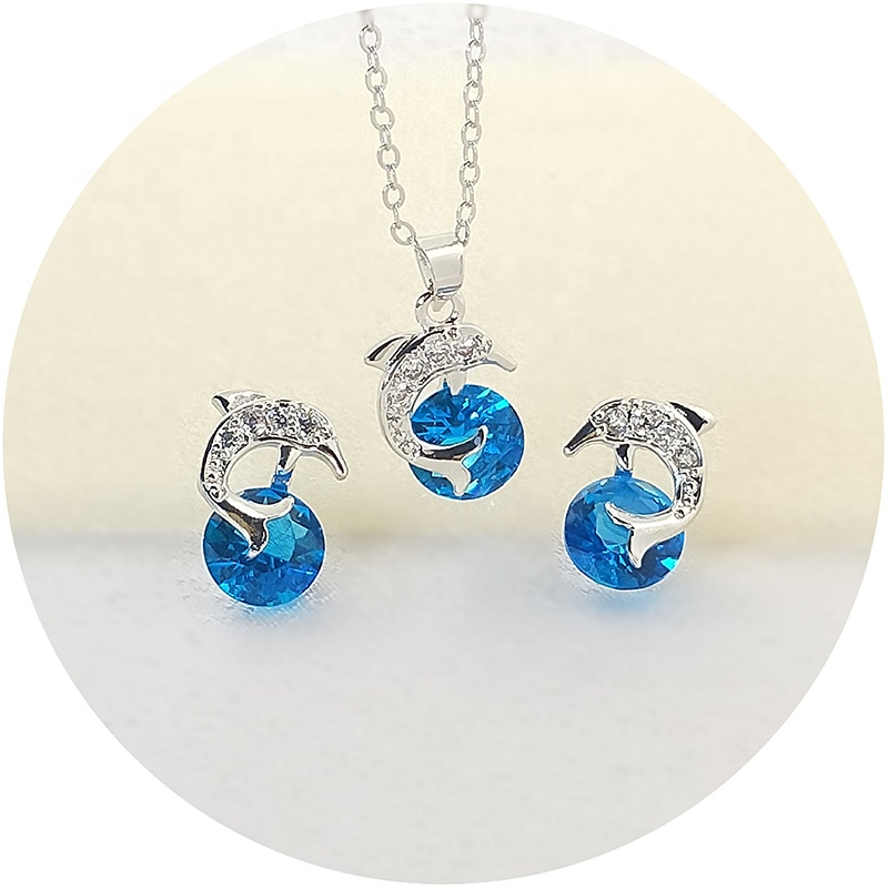 Wholesale custom women Bridesmaid gift high necklace and earring body jewelry set