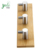 Durable Modern Wall Mounted Bamboo Wooden Entryway Coat Hooks with 304 Stainless Steel Accessories
