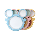 Cartoon Dinner Plate Divided Into Large Format Children Dinner Plate