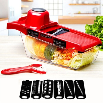NEW Multi-function Vegetable Slicer Cutter Fruit Slicer Chopper Food Cutter with Storage Container