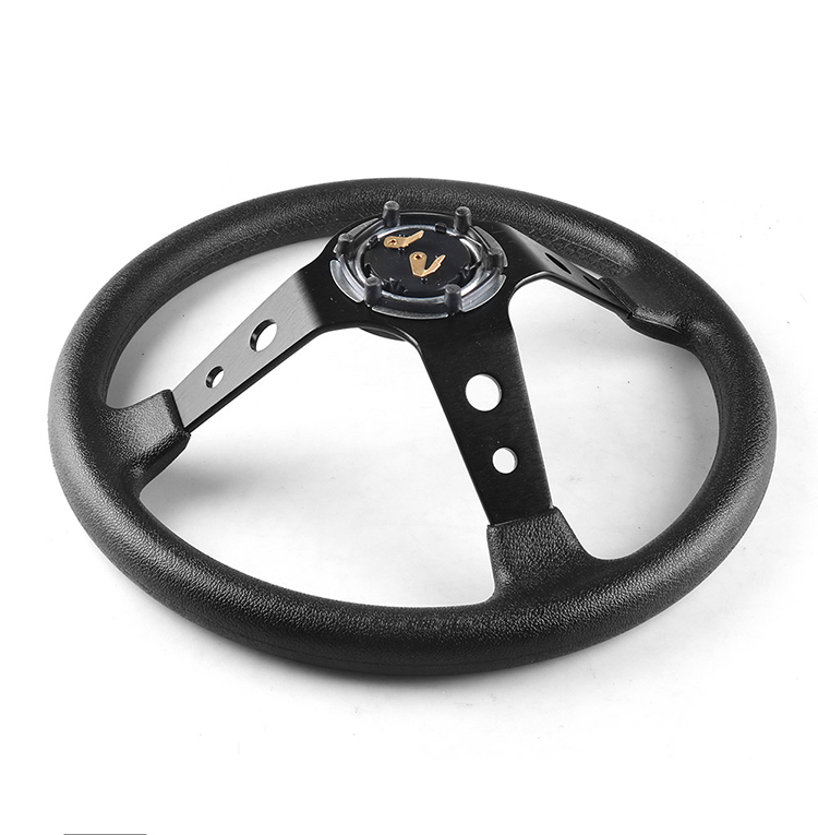 Custom Universal car steering wheel Auto Wholesale High Quality Cozy racing PU Leather steering wheel