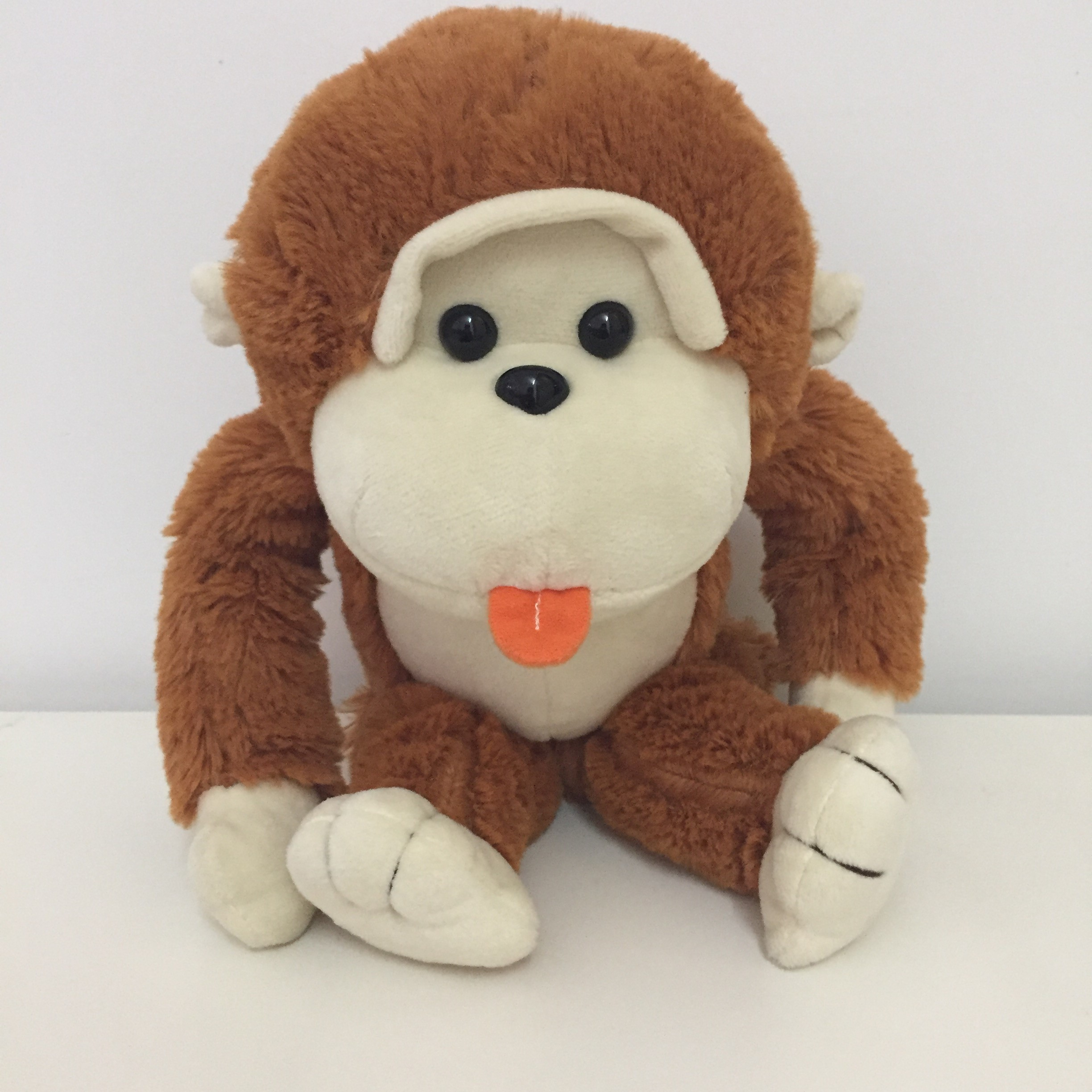 Hola brown monkey plush toys/lovely orangutan stuffed toys for sale