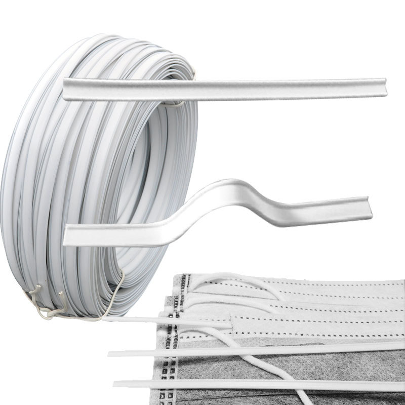 Wholesale white metal single core nose bridge <strong>wire</strong> for disposable medical facemask