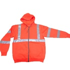 Z96 09 Hi Vis Safety Polar Long Sleeve Reflective Striped Custom Hoodies