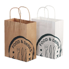 One-stop Service Paper Bag Bags Paper Bags Wholesale Custom Logo Printing Food Take Away Brown Craft Paper Bag With Handle