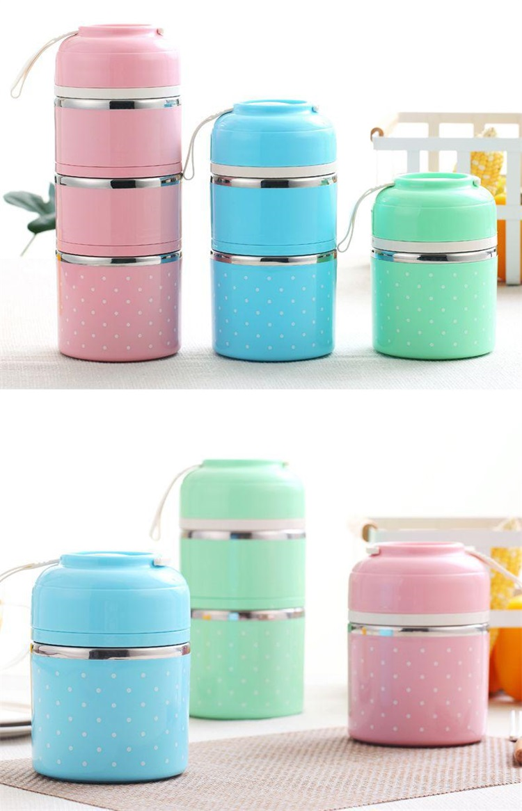 WORTHBUY DropShipping Cute Japanese Thermal Lunch Boxs Leak-Proof Stainless Steel Thermal Bento Box Kids Picnic Food Container