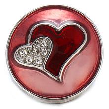 5 шт./лот, новинка, ювелирные изделия, высокое качество, любовь, сердце, 18 мм, металлические кнопки, DIY Подвески, кнопки, ювелирное изделие(Китай)