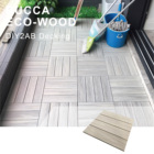 2019 WPC Anti-slip waterproof DIY Interlocking Decking flooring tiles 300*300mm for pool garden puzzle tiles exterior/interior