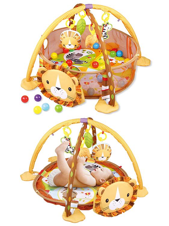 उच्च गुणवत्ता शेर आकार जिम बच्चे खेलने चटाई multifunctional प्यारा बच्चा रेंगने कालीन foldable