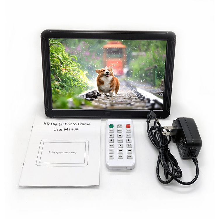 remote control 8 inch white IPS display hd photo frame 1280*800