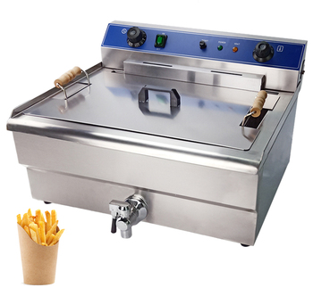 30L deep fryer/ dual temperature control setting for large capacity commercial deep fryer pressure cooker