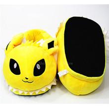 Унисекс, Мультяшные хлопковые тапочки для взрослых, аниме Покемон, милые, Pikachu Eevee, домашние пижамы, зимняя теплая плюшевая домашняя обувь(Китай)