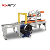 carton case box packing line automatic strapping machine sealing machine