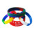 promotional gift print colorful elastic wristband bracelets for rubber silicone