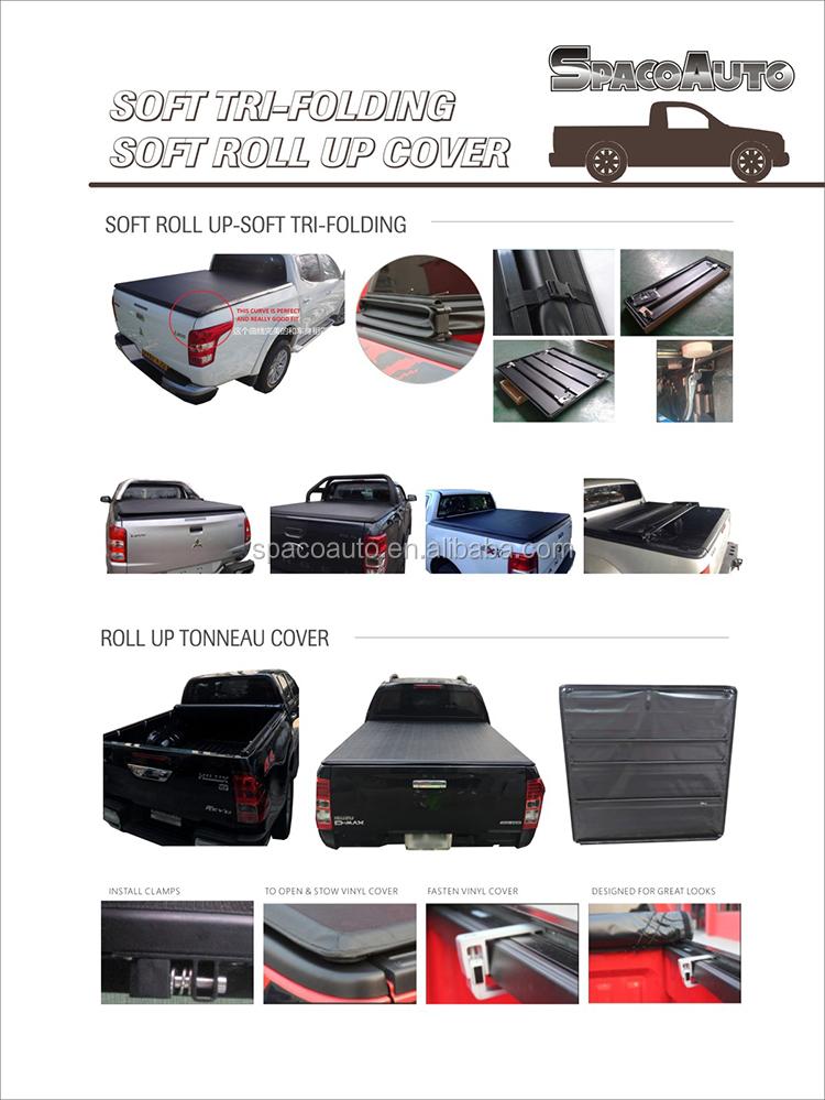 Toyota Hilux Vigo Revo Soft Tri Fold Tonneau Cover