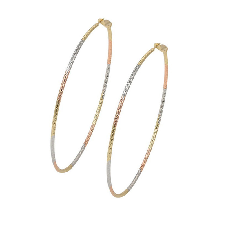 99240 XUPING manufacturer supply cheap extra large gold hoop earrings for women, fashion colored hoop earrings Copper