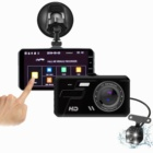 Front and Rear 4.0 Touch Screen Dual Lens dash cam loop recording car video camera