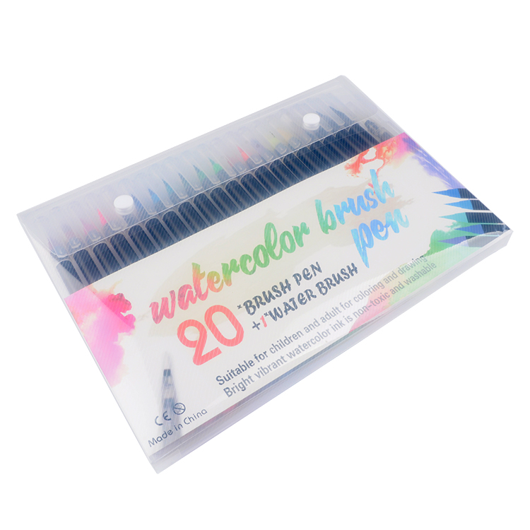 Professional 20 colors painting art markers water color brush pen set for school students