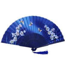Китайский веер для танцевального костюма, складные вентиляторы, ручные бамбуковые вентиляторы для женщин, выдолбленные бамбуковые вееры д...(Китай)