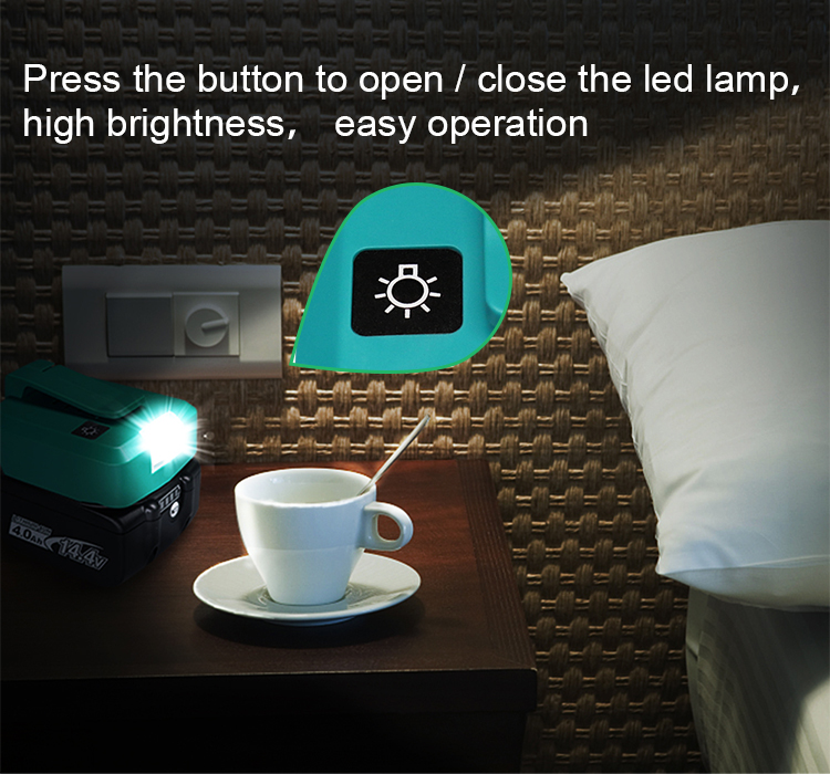 High quality USB charging adapter adp05 with led lighting function