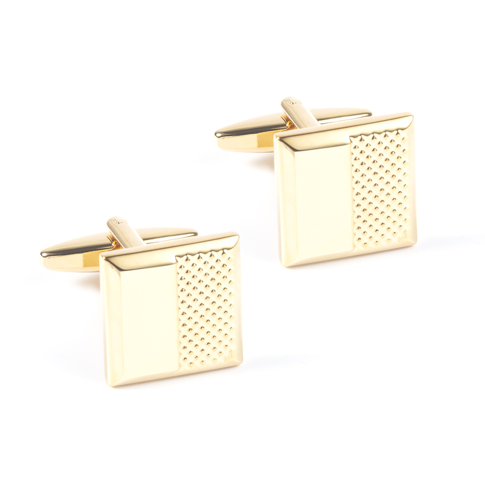 Latest cheap stock simple design laser <strong>engraved</strong> silver gold brushed blank <strong>cufflinks</strong> for men