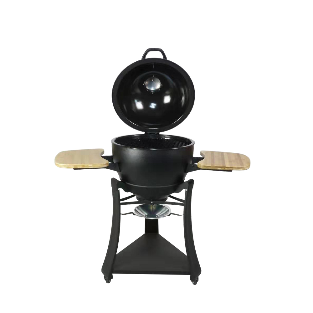 Steel egg grill