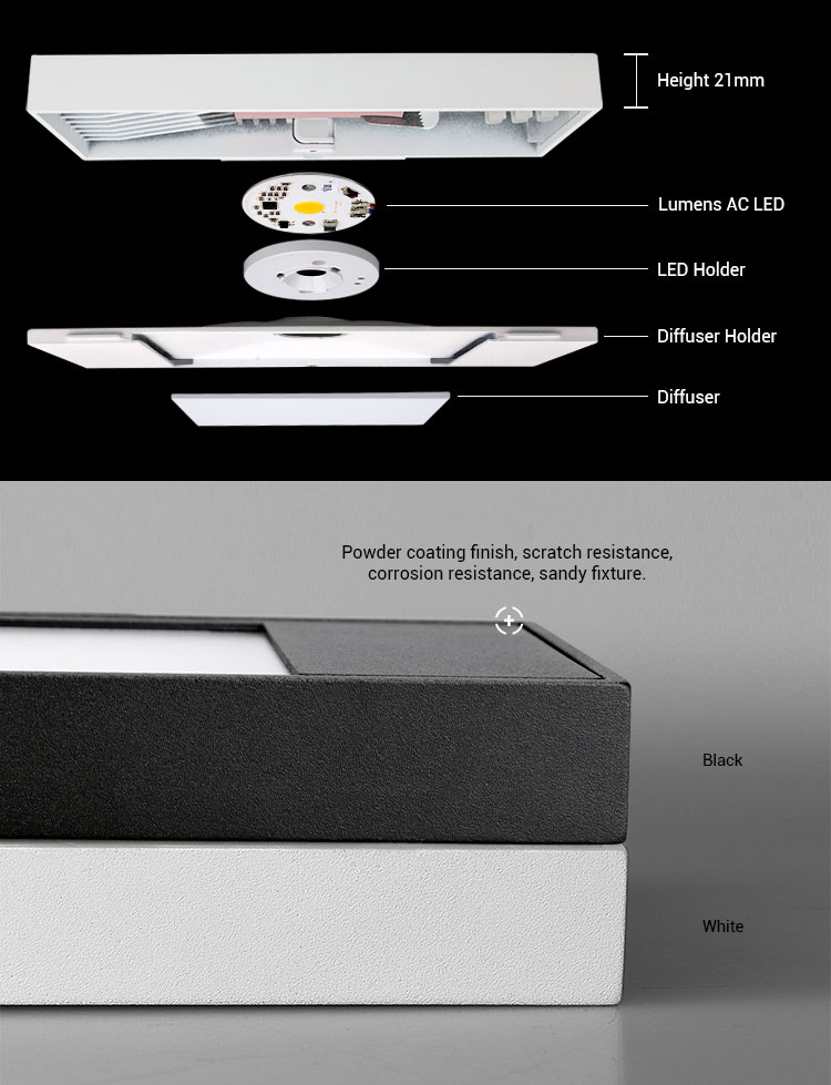 White Black 10W 20W Wall Mounting LED Wall  Light Indoor Sconce Europe Style Aluminum
