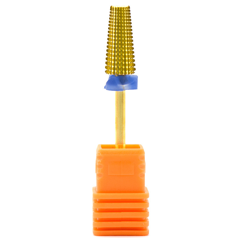 New 5 in 1 Gold Tungsten Steel Nail Drill Bit Manicure Tungsten Steel Polishing Head  Universal for Both Hands