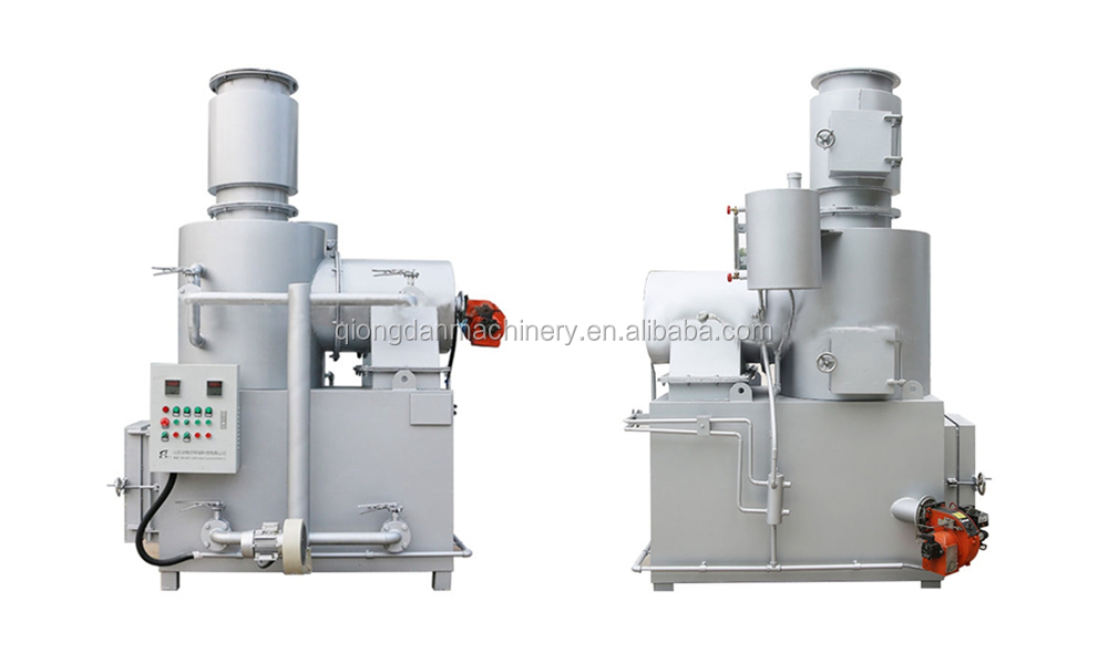 Móvil incinerador de residuos de plasma incinerador basura incinerador