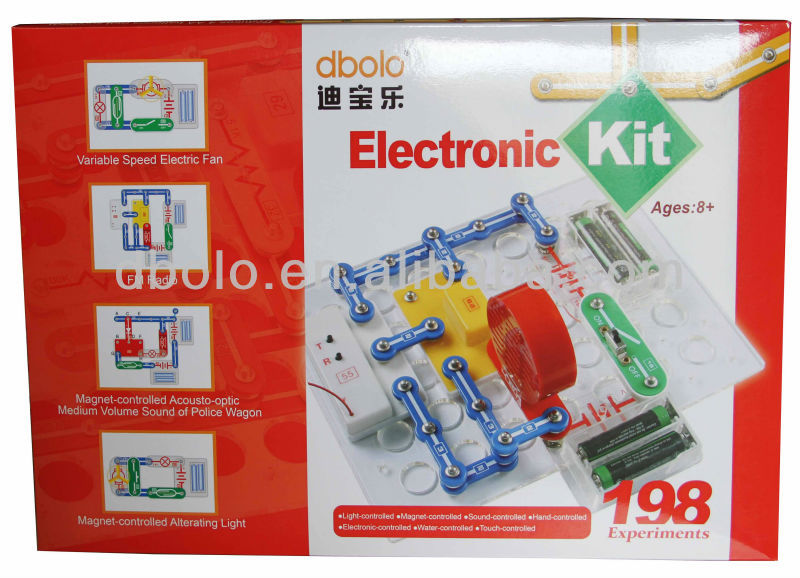 Hot Sale Brick Toy for Children Electronics Discovery Kit Electronic Circuits Labs Science Kits