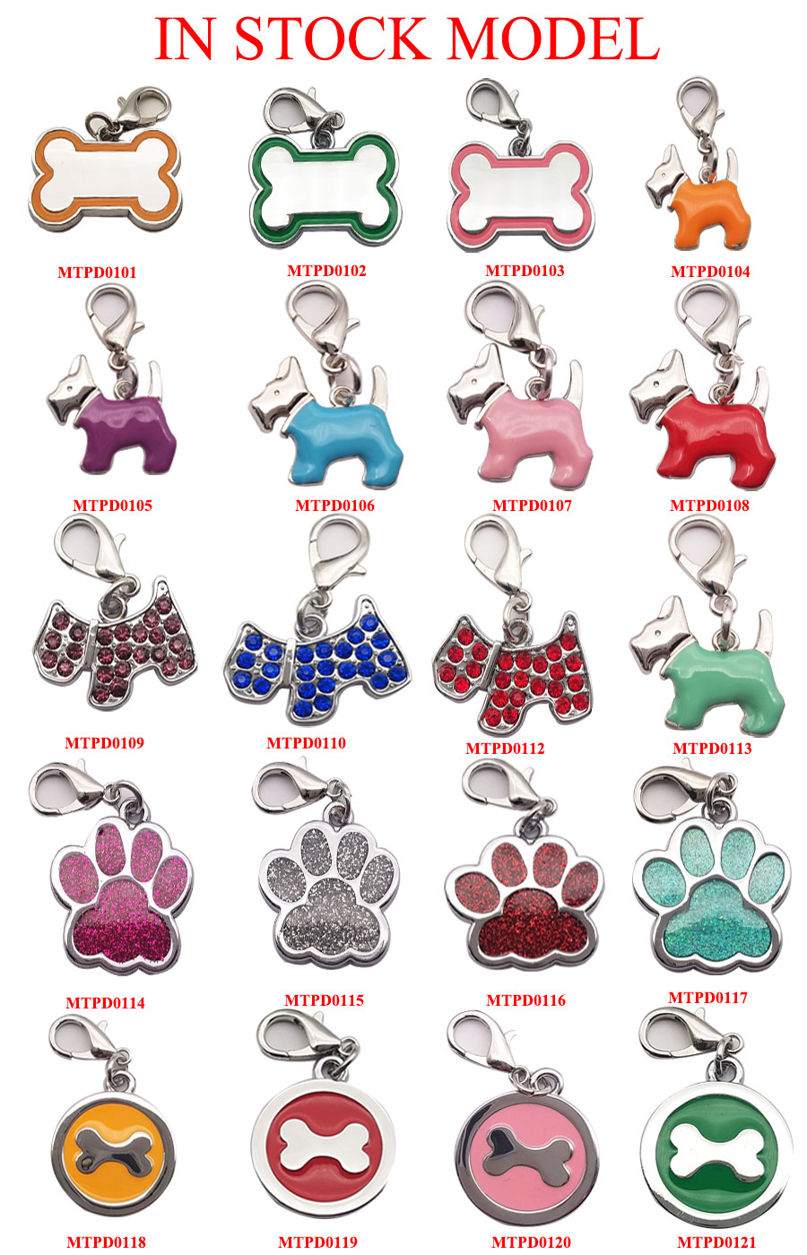 IN Stock Bulk Purple Filled 2.5CM Round Heart Shaped Pet Collar Pet Dog ID Name Tag for Bag Zipper