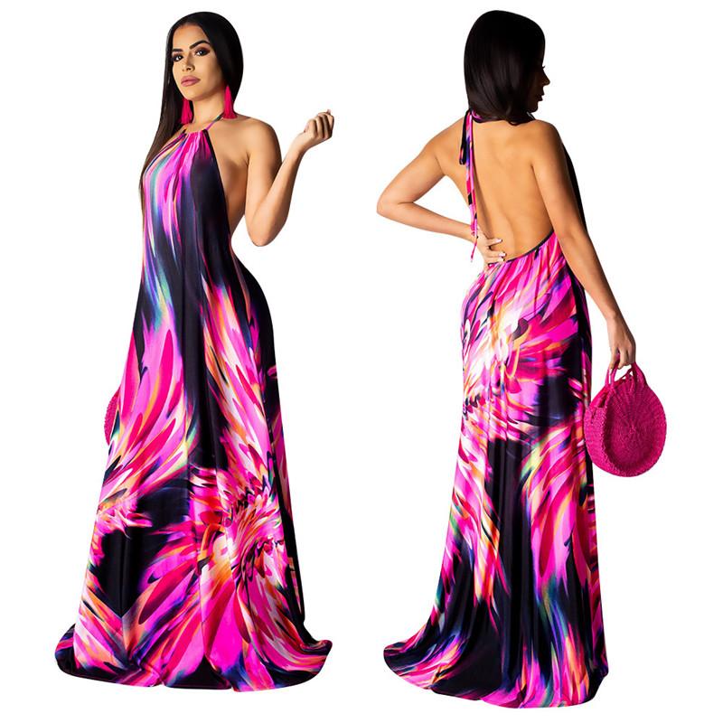2020 venta caliente desnudo sin mangas chicas indio vestido de noche para mujeres ropa casual de verano de 2019 la tendencia