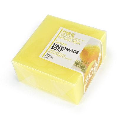 Venda quente Cuidados Com A Pele Limpeza Profunda Branqueamento de Controle de Óleo de Limão Sabonete Artesanal Natural