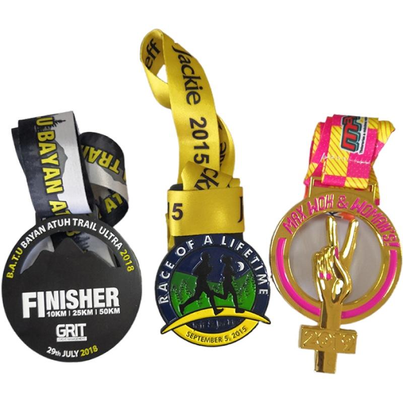 Fabricação Sob Encomenda Barato Preço Corridas Prêmio Presente Da Lembrança Para teclas de Jogo medalha Medalha de Metal com cordão