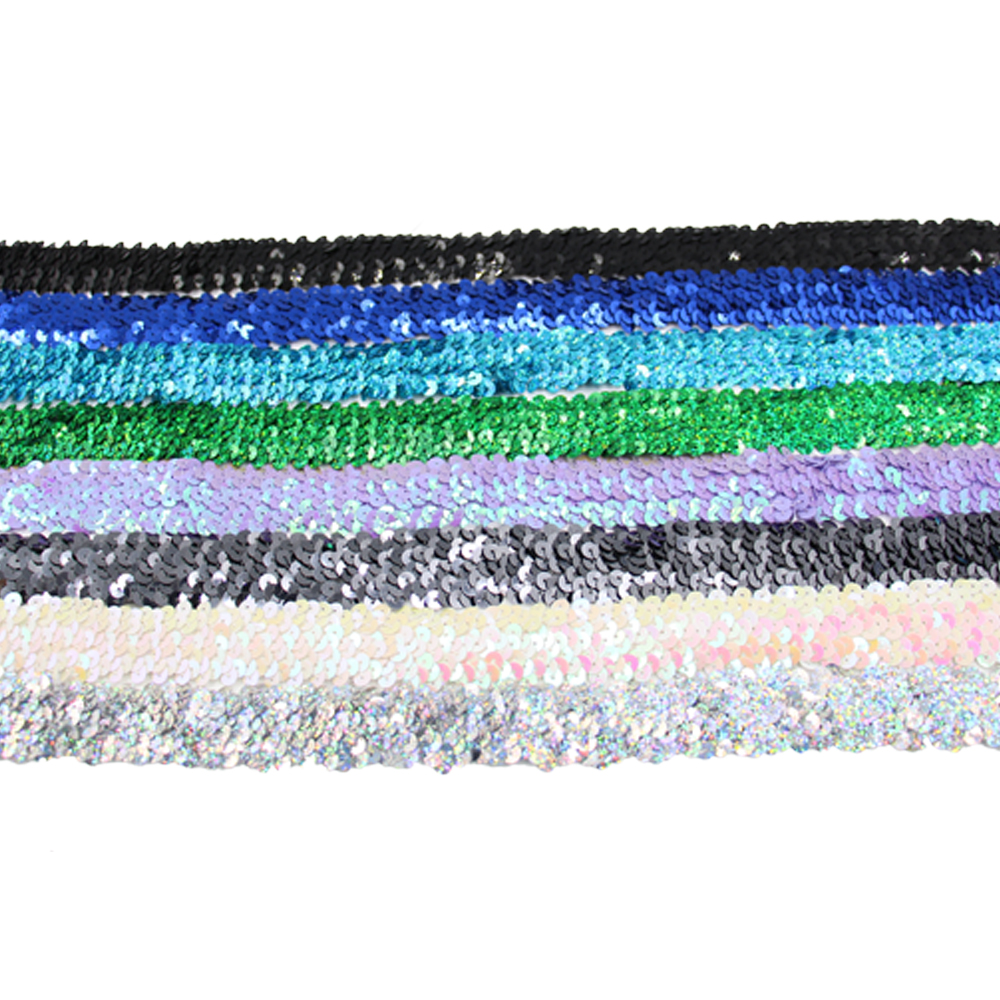 Garment accessories sequin ribbon sequin band elastic webbing