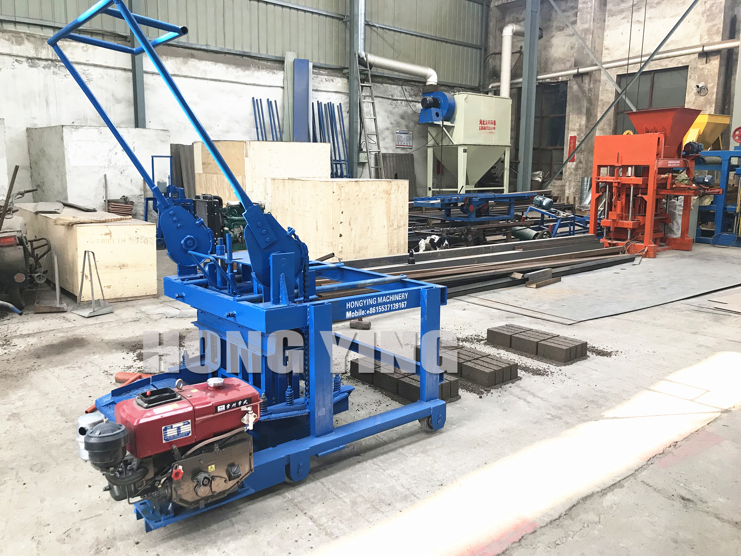 غانا الديزل محرك كتلة الطوب صنع آلة للبيع